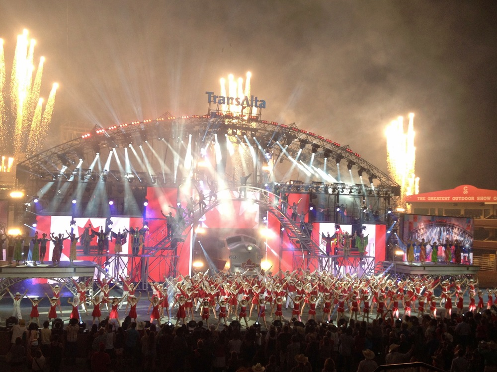 "The Young Canadians of the Calgary Stampede performing in the 2015 Transalta Evening Grandstand Show, ""A Canadian Classic""."