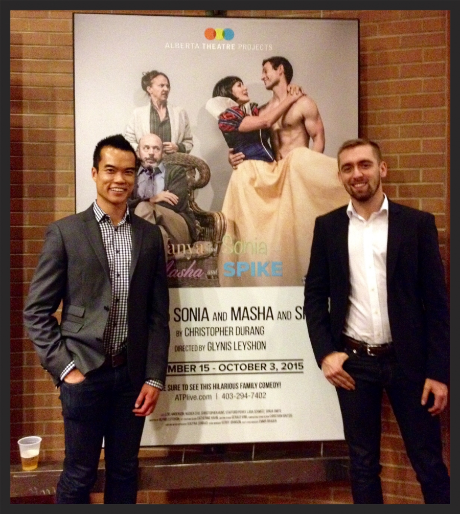 It was a pleasure attending Alberta Theatre Project's 2015/2016 season launch. I'm on the left and my friend Michael is on the right!