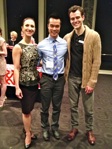 At a previous event, I had the pleasure of meeting Alberta Ballet principal dancers Hayna Gutierrez (left) and Garrett Groat (right).