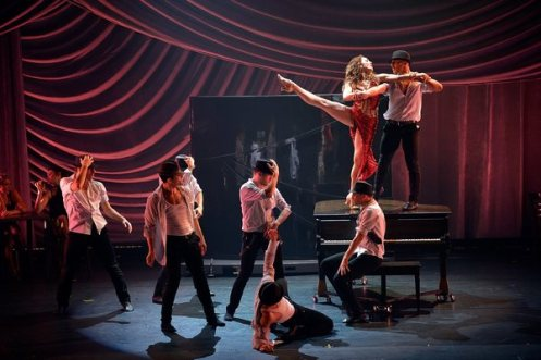 Act one of Shaping Sound's production ends in spectacular style with a sexy, high-energy jazz piece set to  Swing Swing Swing . Photo courtesy of Shaping Sound.