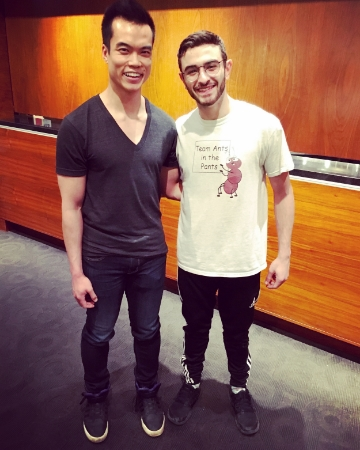I can't believe I got to meet Ricky Ubeda, winner of season 11 of SYTYCD and Broadway dancer. I look like a giant compared to Ricky!