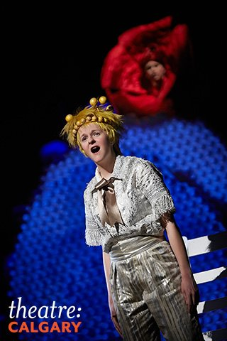 while Caraher puts forth a good  effort, she is unconvincing overall as the Little Prince. Photo courtesy of Trudie Lee.