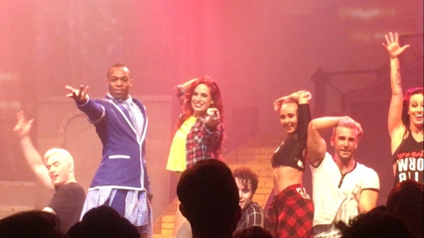 Todrick Hall (second from left) and his cast of triple threat performers light up the stage in 'Straight Outta Oz'.