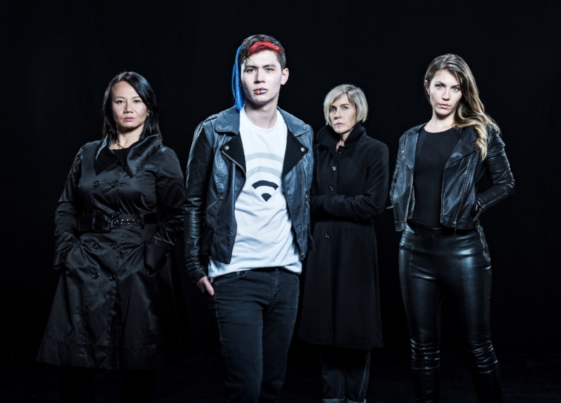Even the promo photos for this show don't make sense. For example, the character of Li (played by Mason Temple), pictured front and centre in this photo, doesn't actually look anything like he does here. In the play, he doesn't have the weird hair, lip piercing or the T-shirt he's wearing in the photo.