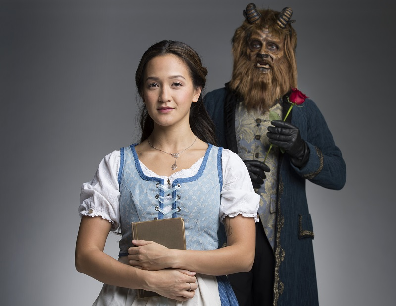 Shannon as Belle, along with Jonathan Winsby as the Beast. Photo: David Cooper
