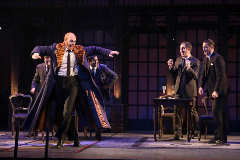 Geoffrey Sirett and the company of The Overcoat - A Musical Tailoring. Photo credit: Tim Matheson