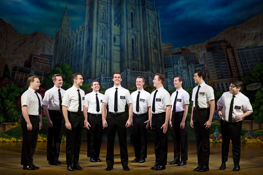 The ensemble of  The Book of Mormon . Photo credit: Julieta Cervantes