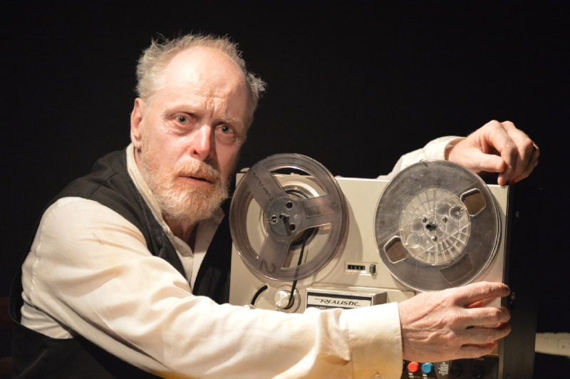 Linden Banks in Krapp's Last Tape. Photo credit: Seven Tyrants Theatre