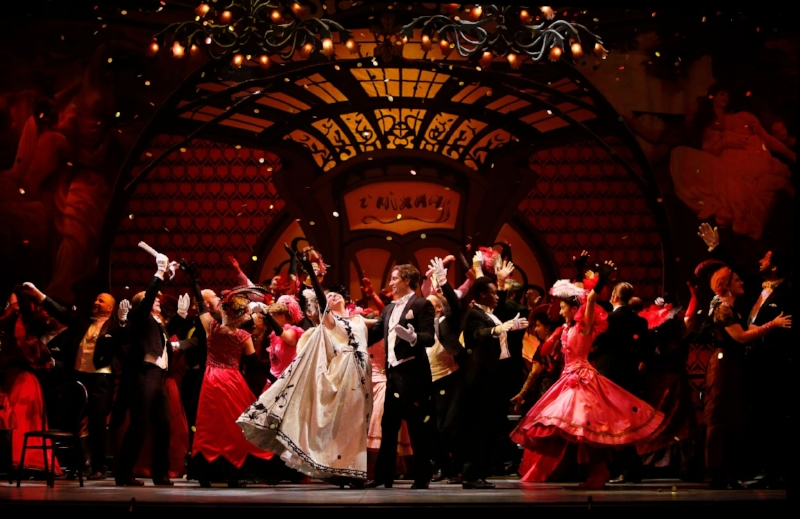 The company of Vancouver Opera's The Merry Widow. Photo credit: Tim Matheson