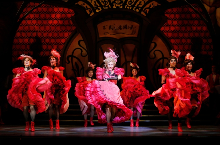 One of the show's highlights is the rousing can-can number. Photo credit: Tim Matheson