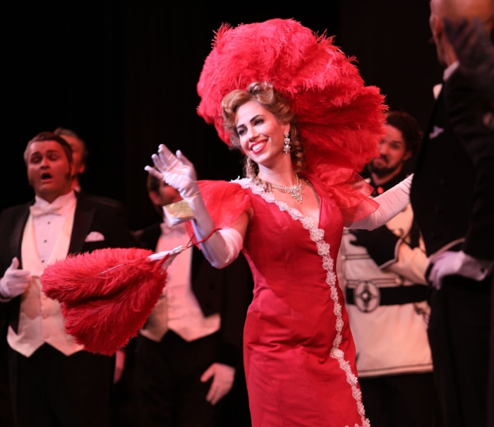 "Lucia Cesaroni as Hanna, ""The Merry Widow"". Photo credit: Tim Matheson"