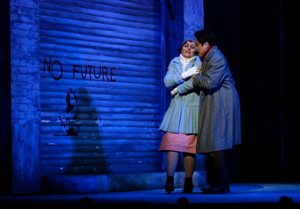 Bellemare and Park as Mimi and Rodolfo. Photo credit: Tim Matheson