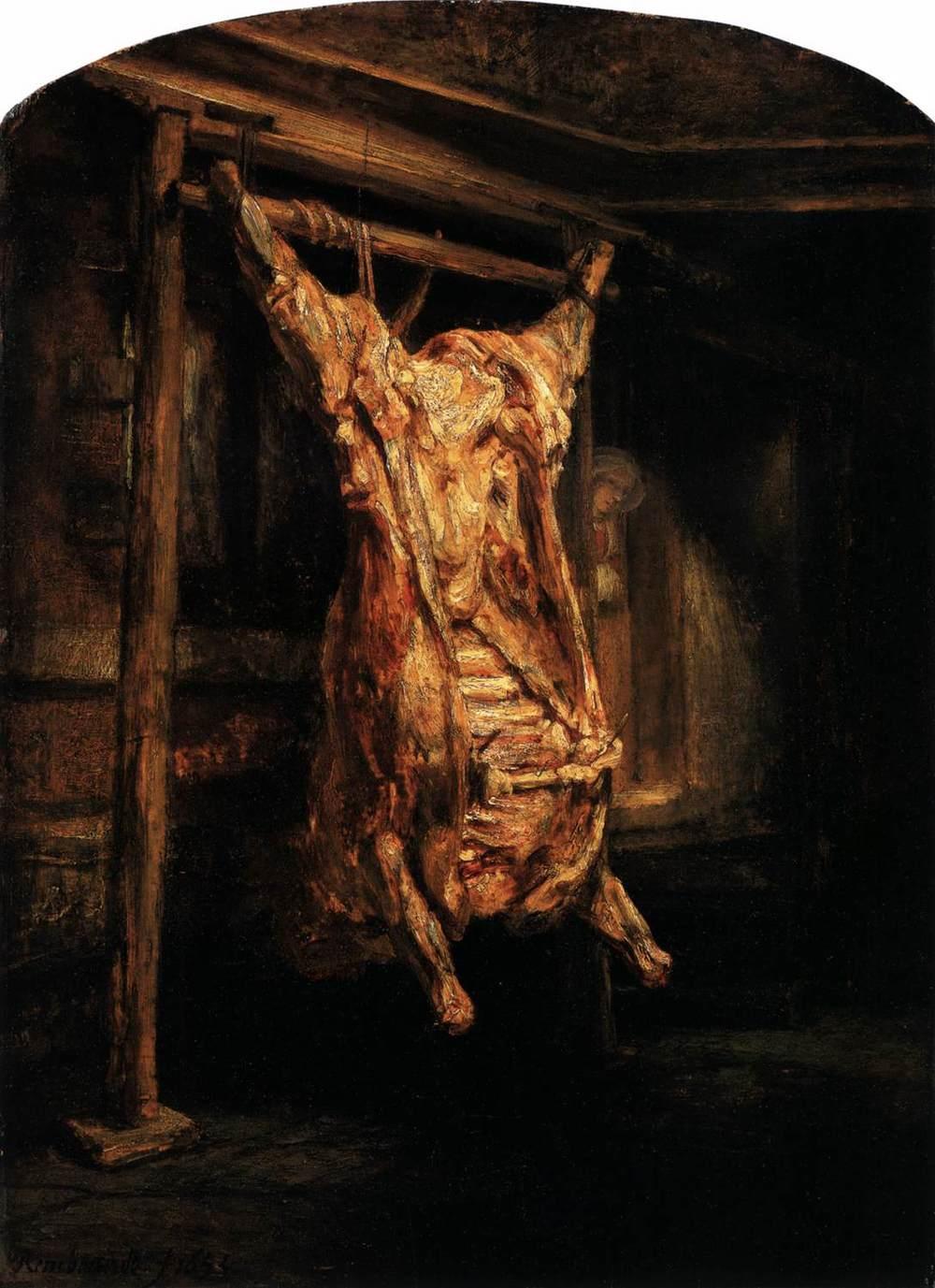Rembrandt van Rijn, The Slaughtered Ox, 1655