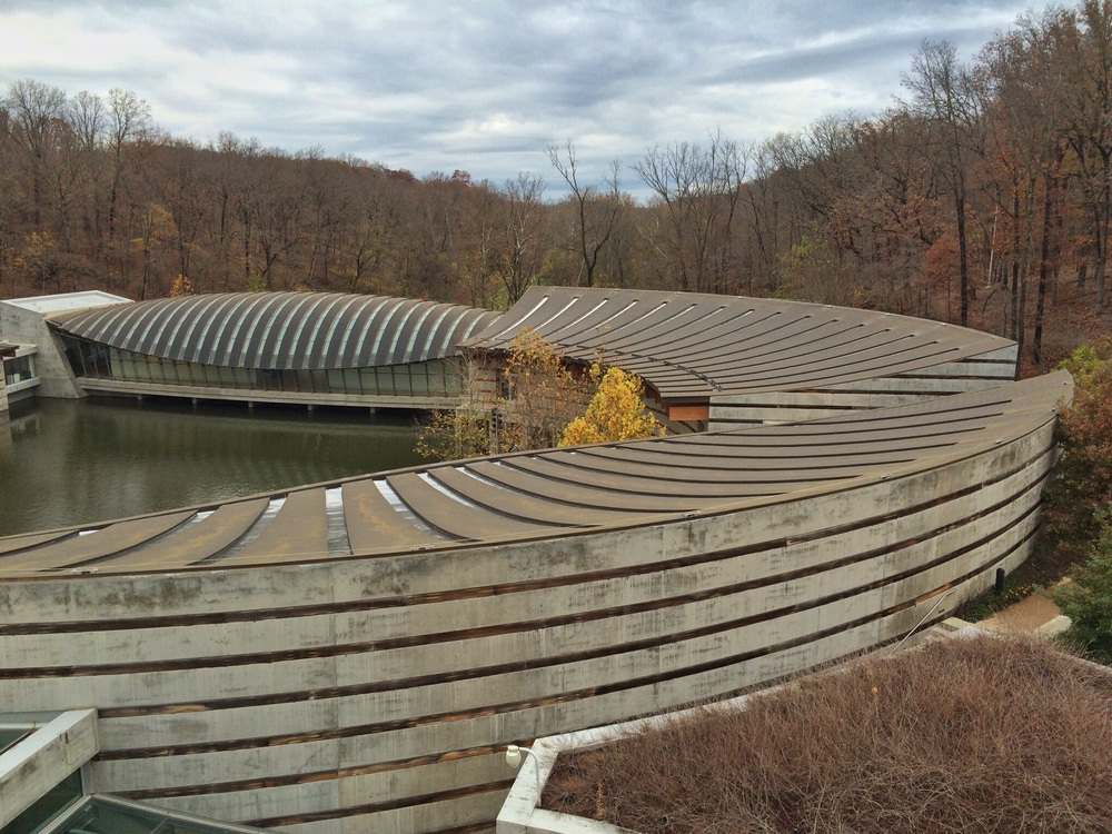 The Moshe Safdie designed Crystal Bridges Museum of American Art.