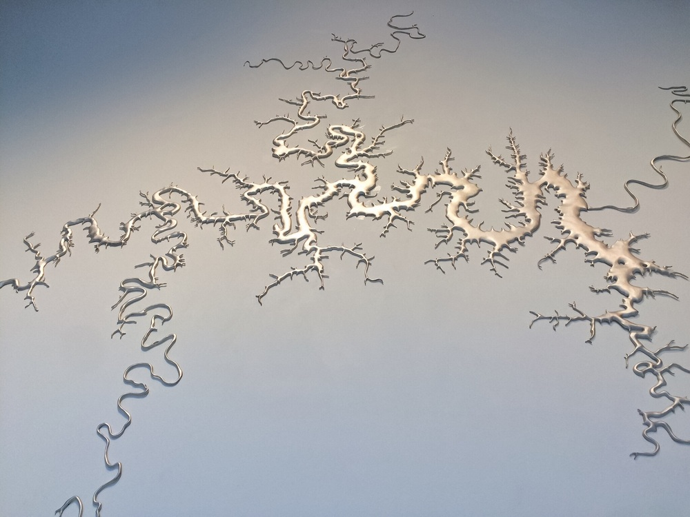 Maya Lin,  Silver Upper White River,  2015.