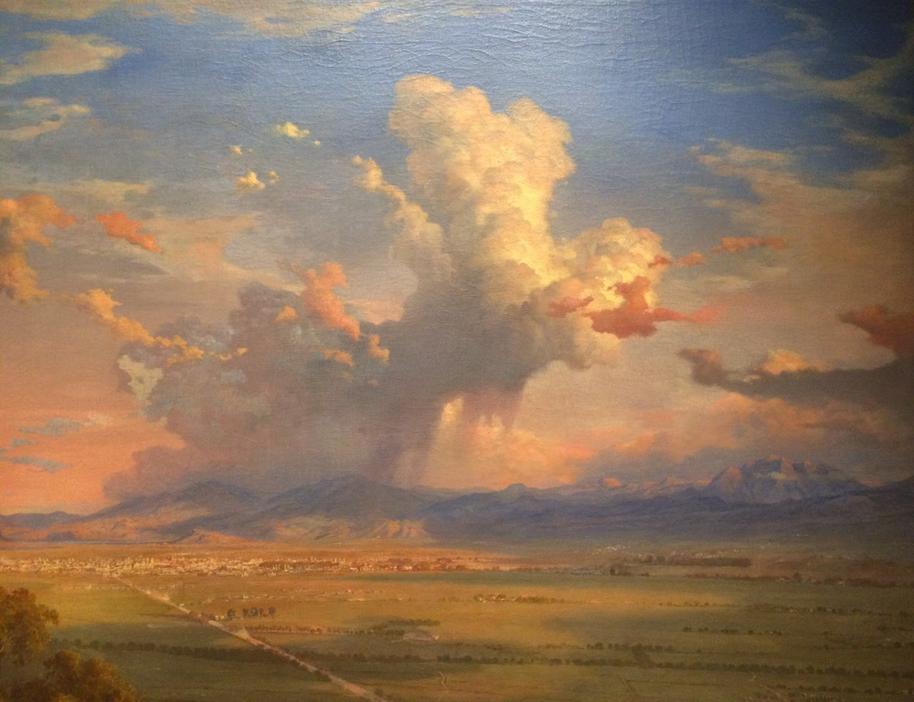 "Eugenio Landesio,""El Valle de Mexico desde el cerro de Tenayo (The Vallery of Mexico Seen from the Tenayo Hill), 1870."
