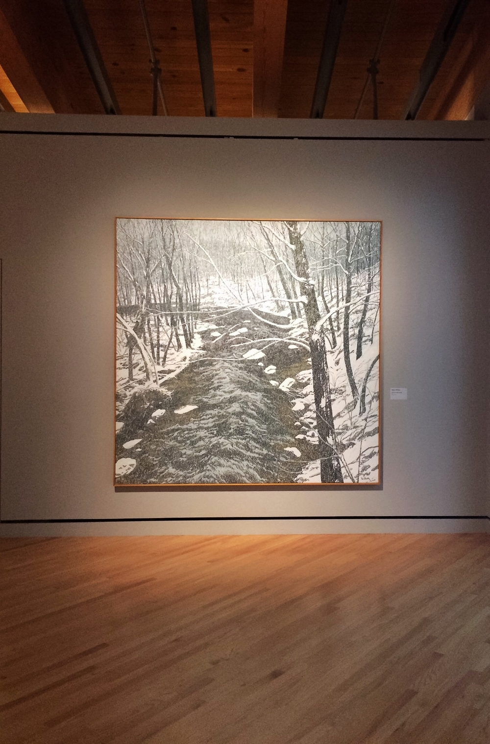 Neil G. Welliver,  Snow on Alden Brook,  1983.