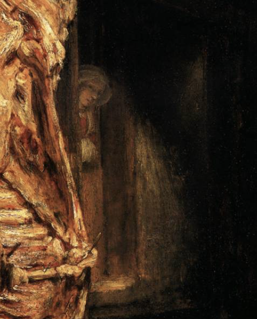 Rembrandt_slaughtered_ox_detail