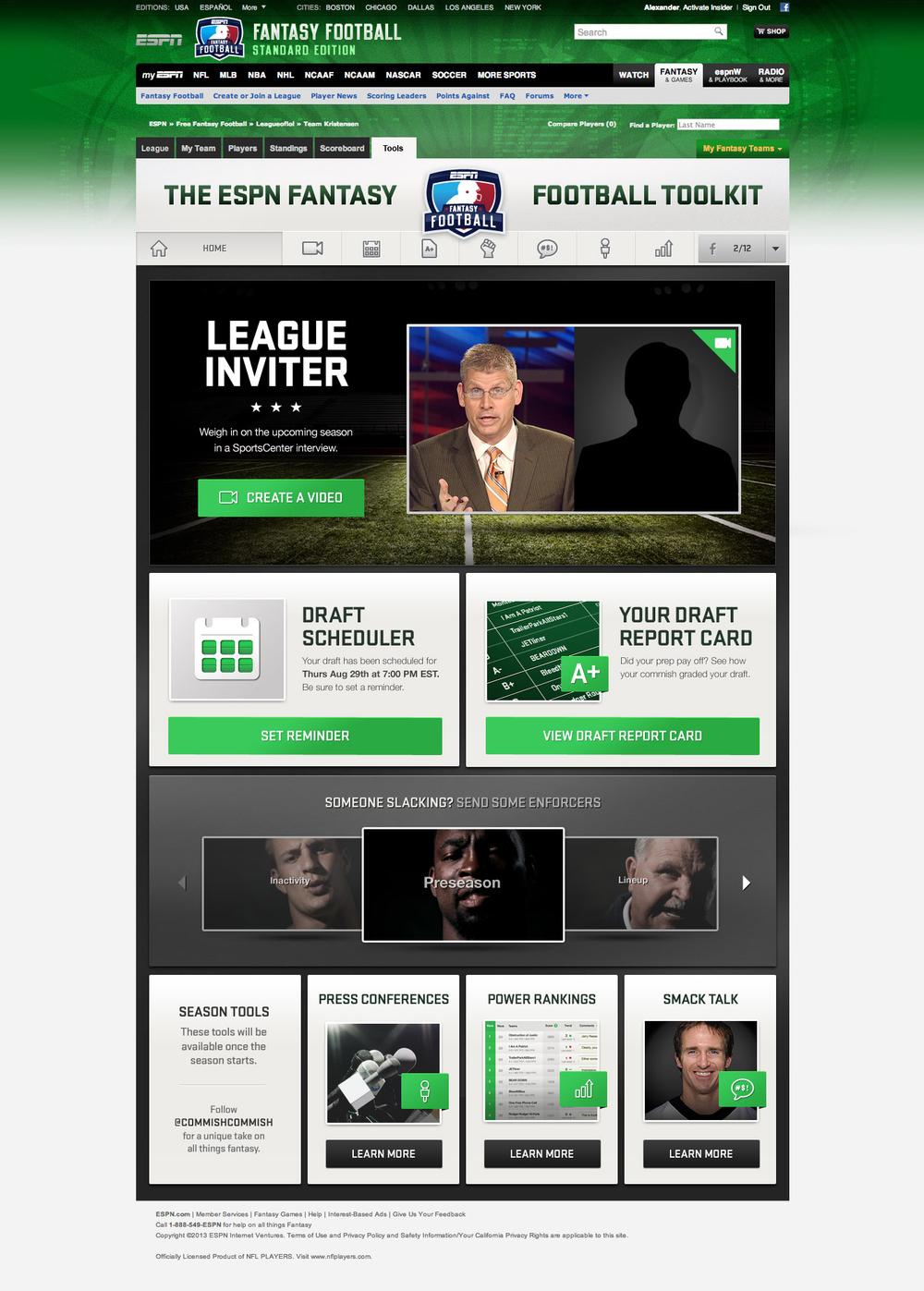 ESPN Fantasy Football — Matt Smith | Art Direction & Design