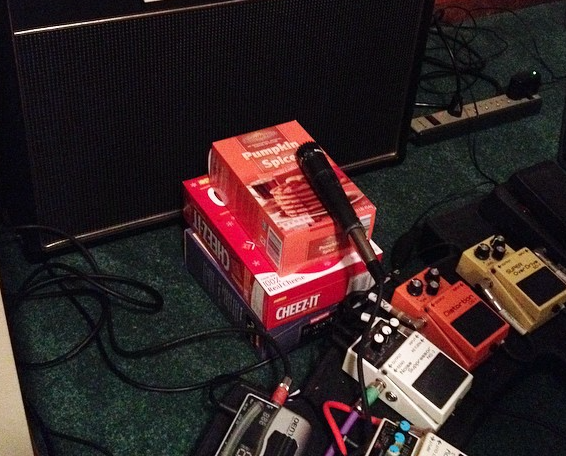 Nothing like a box of Cheez-Its to get that crunchy tone.
