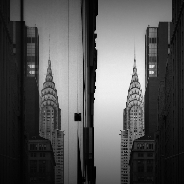 imperfect symmetry chrysler building, new york, usa
