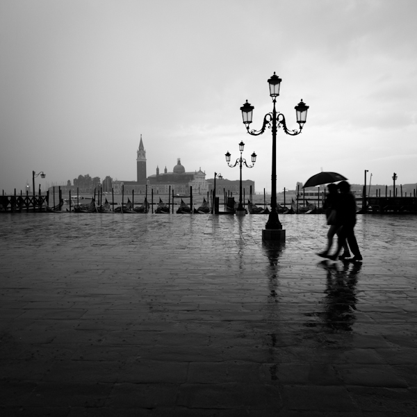 rain in piazza san marcos
