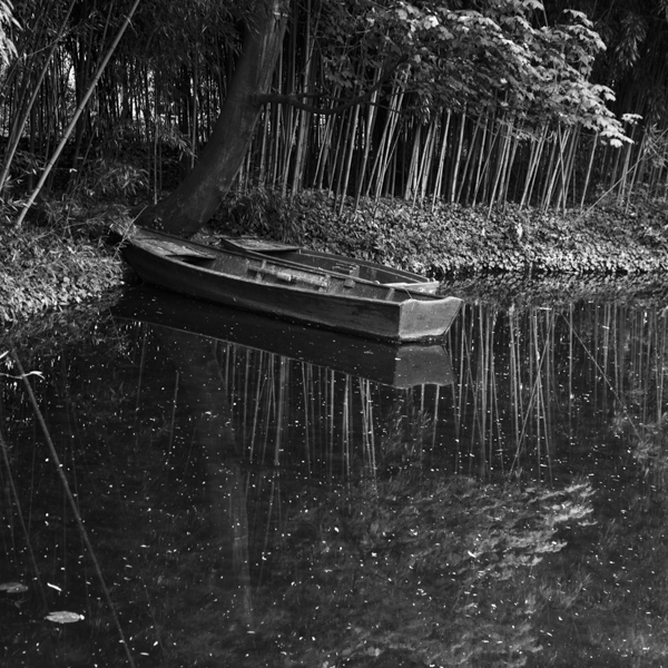 hommage to claude monet:  boat