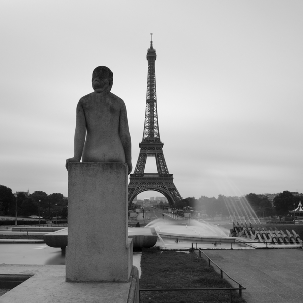 eiffel and woman