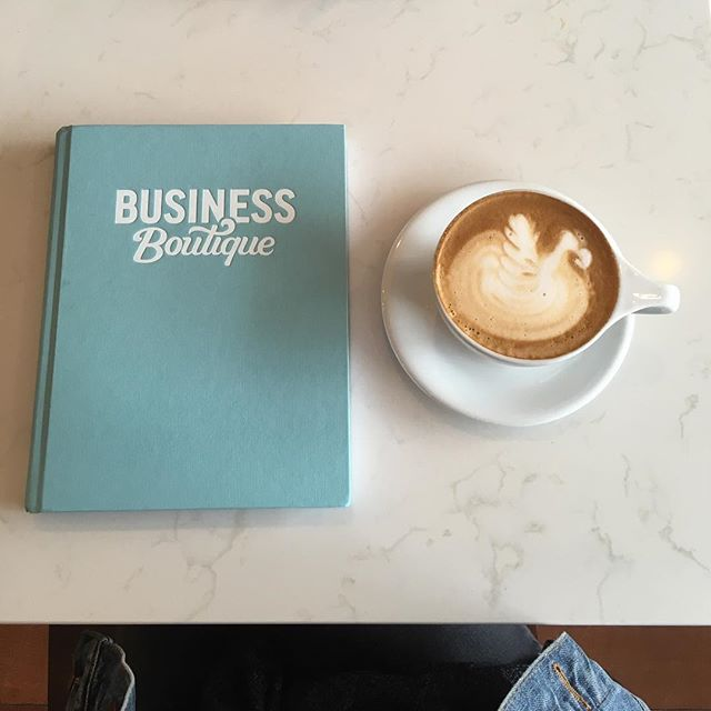 Soaking up this beautiful Saturday ☕️ #businessboutique