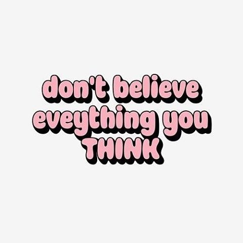 I stumbled upon this on my daily Pinterest scroll 🤗 SO TRUE! How often do we have thoughts that are just plain unhelpful and untrue? 💭 Instead of believing everything you think, put your thoughts to the test: is this helpful? Is it true? Is having this thought going to get me to place I want to be emotionally, relationally, at work, etc?
