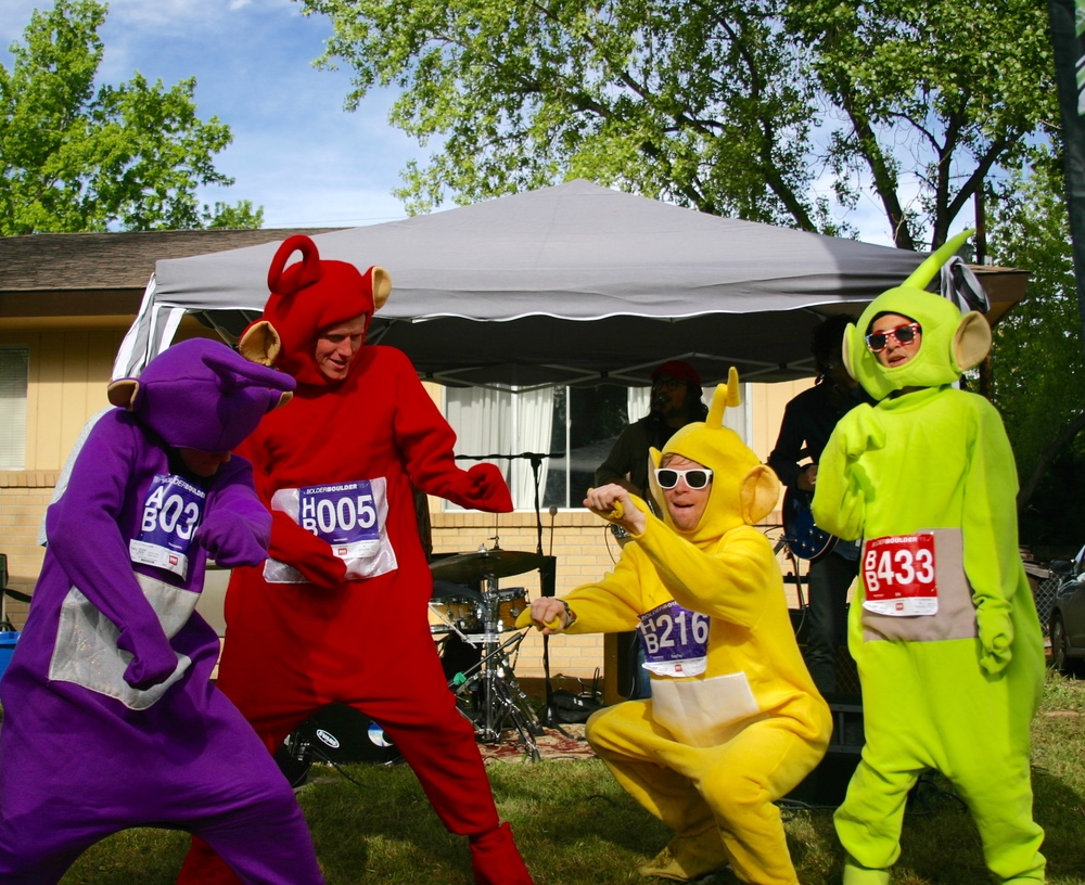Boulder Bands with a Teletubbies Dance.