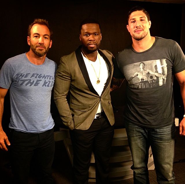 50 Cent   allegedly paid $20 in Vitamin Water to touch Callen and Schaub.
