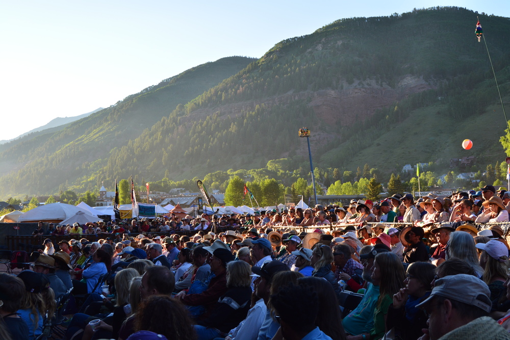 Sunset at Telluride Bluegrass Festival 2016.