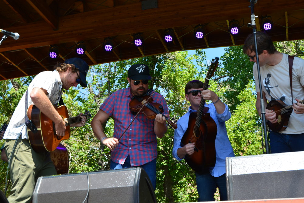 The Wooks kicked off this year's Rockygrass with a high energy set. They won last year's Rockygrass Band Competition.JPG