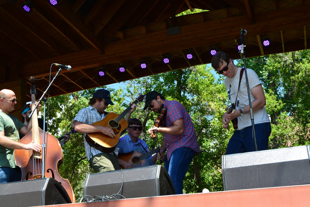 The Wooks, winners of the 2016 Rockygrass Band Competition, kicking off Friday's Rockygrass,.JPG