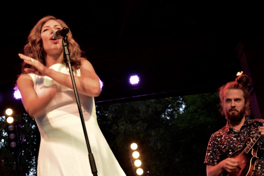 Jake Jolliff of Yonder Mountain String Band joined Lake Street Dive on stage briefly.jpg
