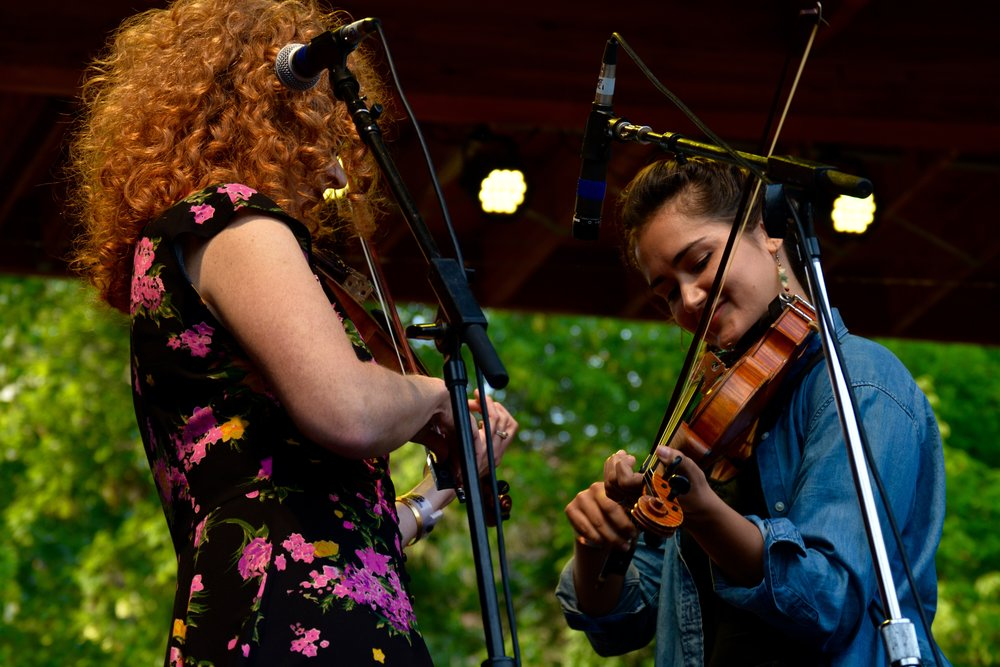 Becky Buller twin fiddles with a special guest.jpg