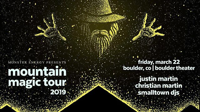 📣••GIVEAWAY•• 📣We've got two tickets up for grabs to the Justin Martin & Christian Martin set at @bouldertheater this Friday 03/22. To enter just like this photo & DM us your name! ⚡️