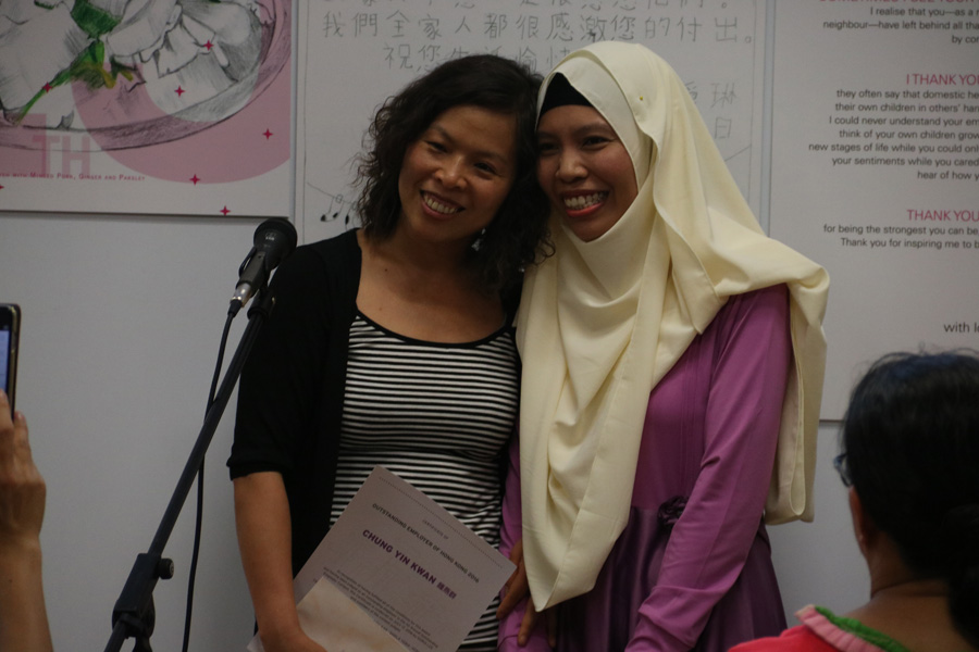 Outstanding Employer: Chung (left) and Migrant Domestic Worker: Iswati (right)