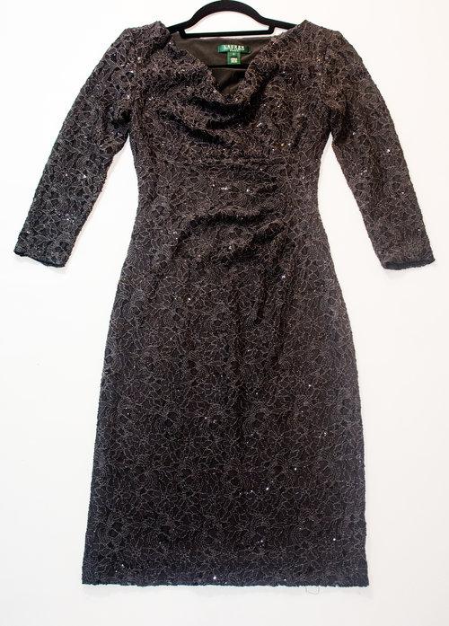 Ralph Lauren Mid-Sleeve Sequin Dress- Size 2 — Loving The Ledfords