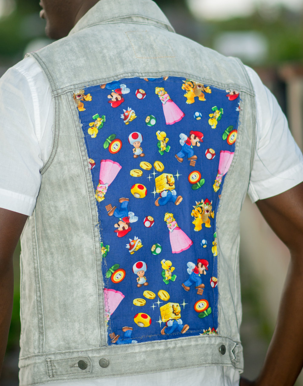 One Of A Kind Super Mario Jean Vest