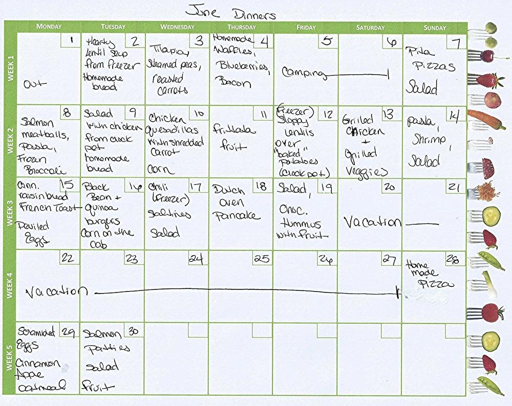 June Dinner Plan