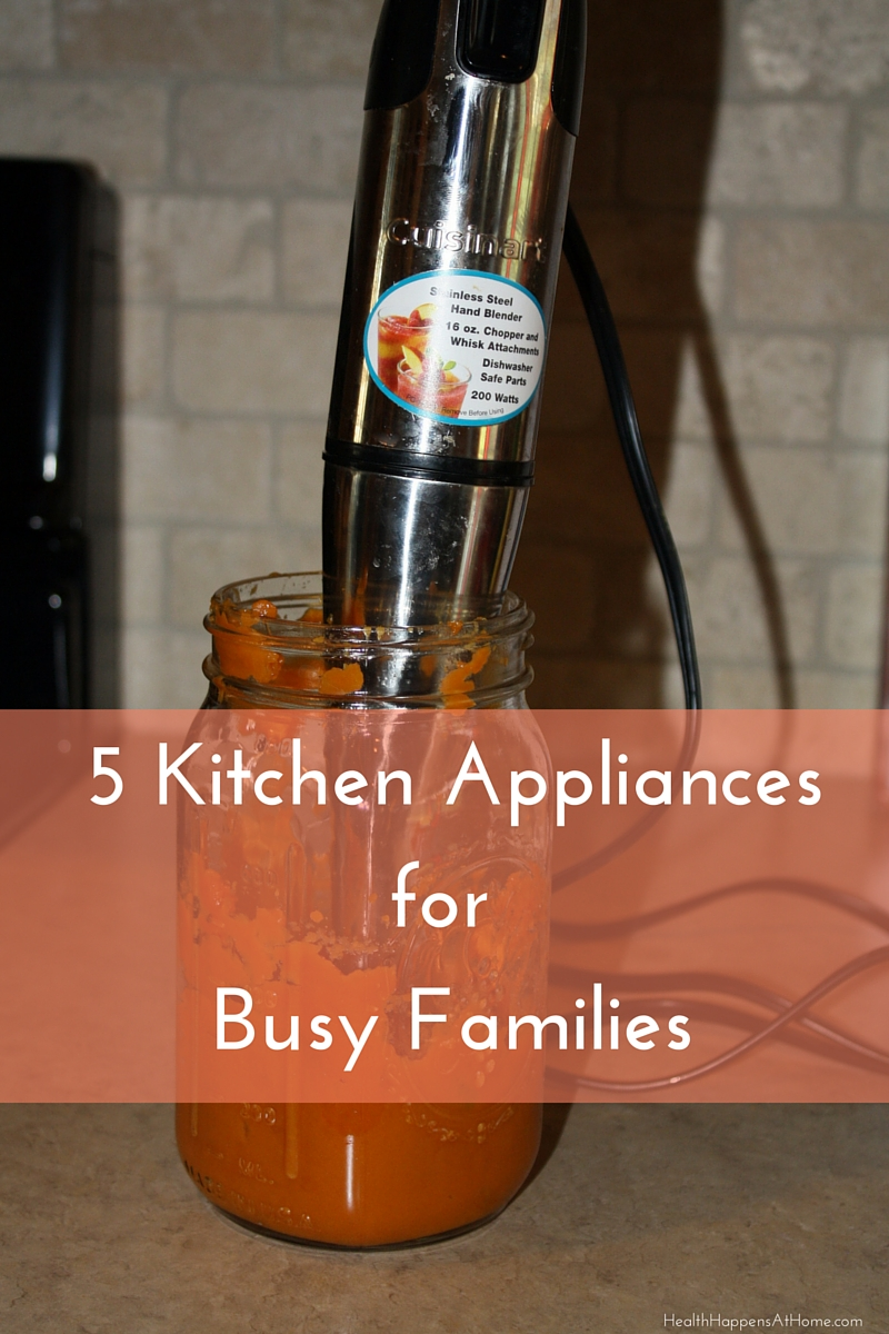 Top 5 kitchen appliances for busy families