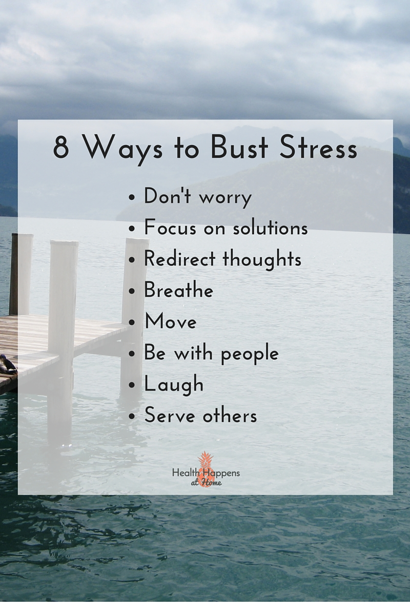 8 ways to bust stress: a list to print - Health Happens at Home