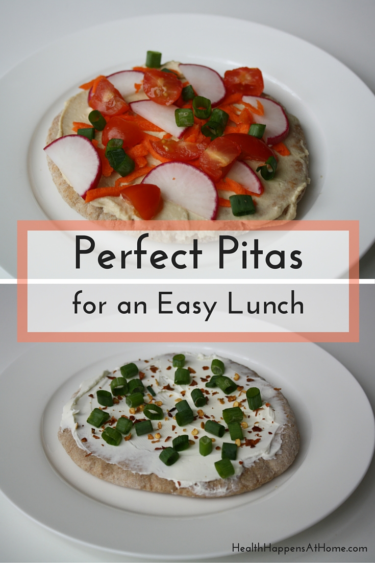 Perfect Pitas for and Easy Lunch. Simple Recipe for a quick lunch. #thereciperedux Read now or Pin for later. - Health Happens at Home