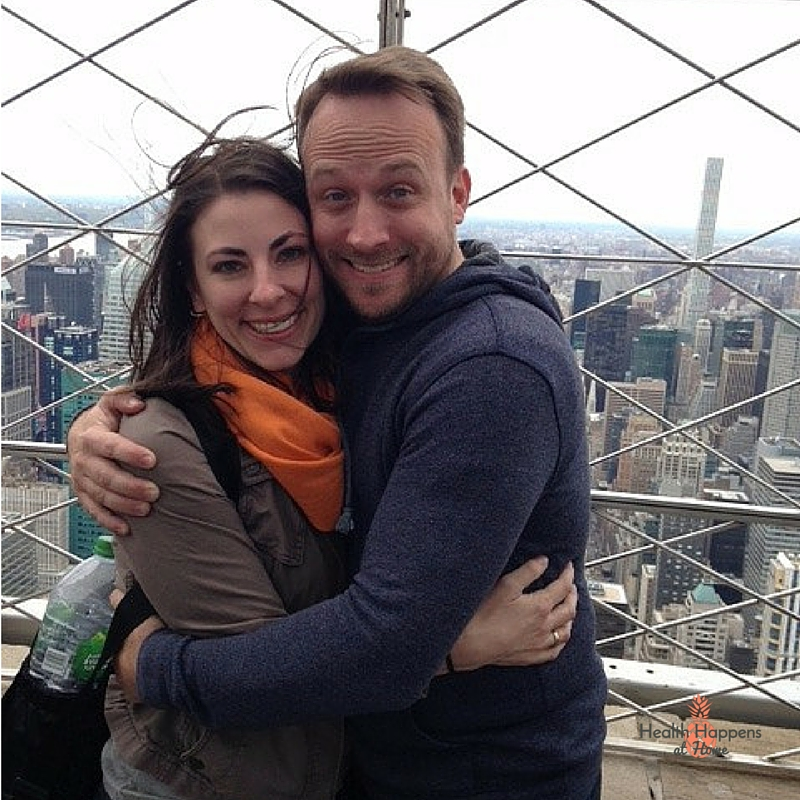 Here is Jamison getting attacked by my hair at the top of the Empire State building.