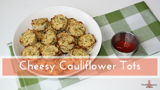 Cheesy Cauliflower Tots. Read now or pin for later. #thereciperedux - Health Happens at Home