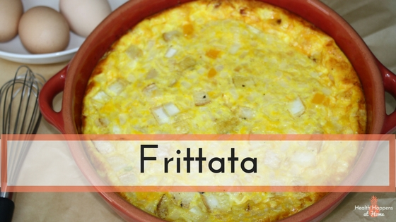 A simple recipe for a delicious frittata. Read now or pin for later. - Health Happens at Home