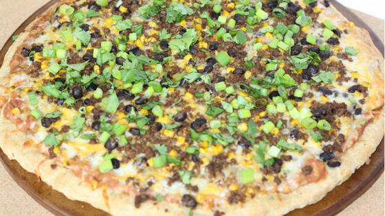 A simple, healthy taco pizza recipe. #thereciperedux Read now or pin for later. - Health Happens at Home