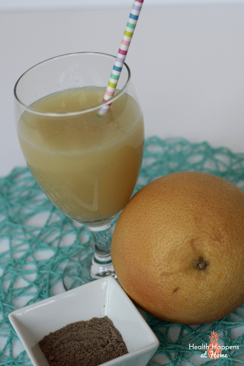 Sparkling Cardamom Grapefruit Juice. Read now or pin for later. - Health Happens at Home